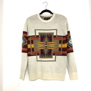Mid Western Aztec Inspired Knit Sweater Size Small